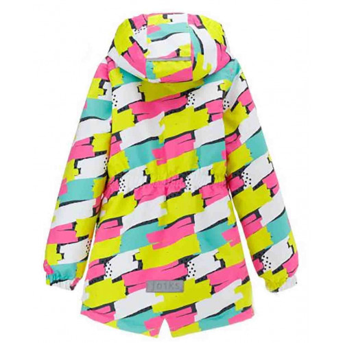 Демисезонная куртка парка Joiks EW-08 салатово-розовая