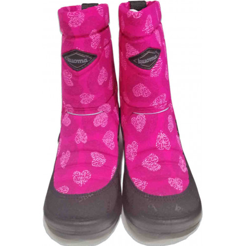 Сапоги Kuoma (Куома) Putkivarsi 130337-3753 розовые сердца