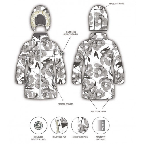 Зимняя куртка полупальто HUPPA PATRICE 2 12520237-11520