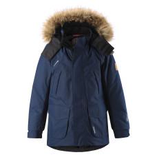 Зимняя куртка пуховик ReimaTec+ Serkku 531354-6980 т-синяя