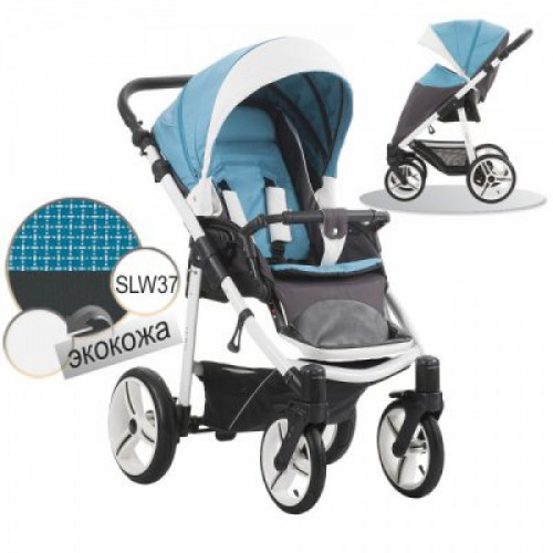 Прогулочная коляска Bebetto Nico SLW37 бирюза с серым