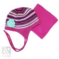 Зимний комплект шапка и бафф NANO F14TC252 Very Berry