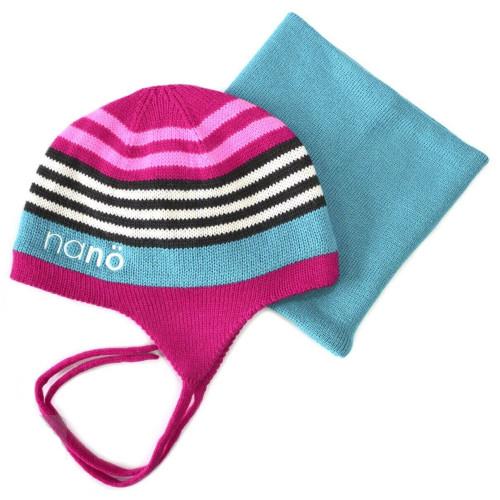 Зимний комплект шапка и бафф NANO F14TC266 Virtual Pink
