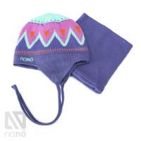 Зимний комплект шапка и бафф NANO F14TC276 Phlox Pink