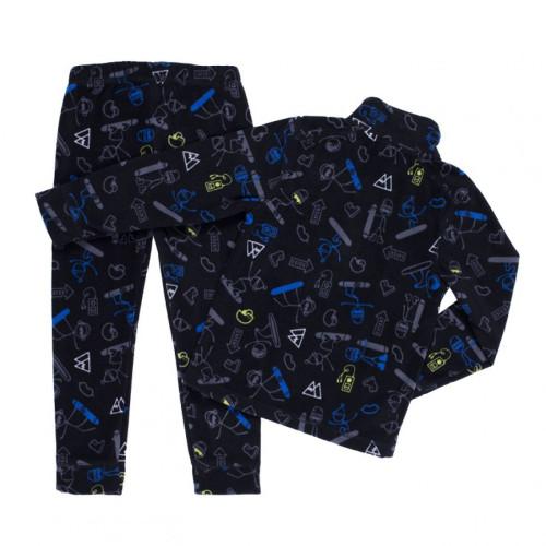 Флисовый костюм NANO BUWP601-F19 Black/Ultralime