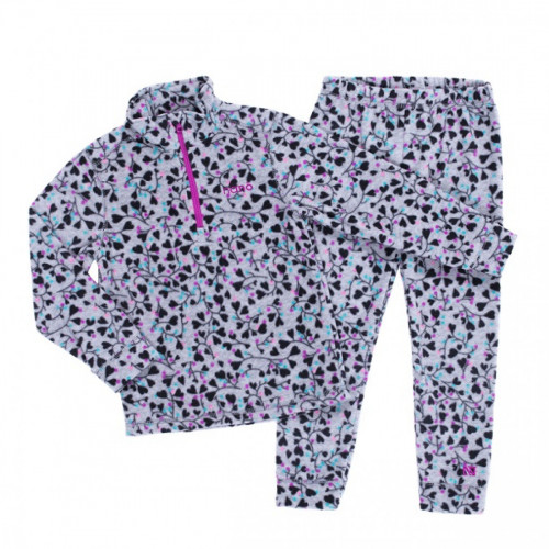 Флисовый костюм NANO BUWP604-F19 Gray/Aqua/Pink