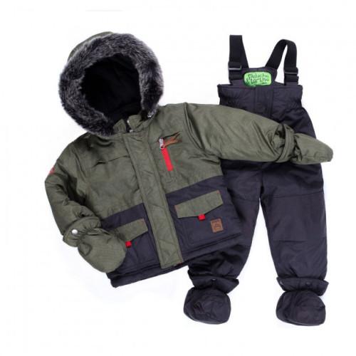 Зимний комплект PELUCHE & TARTINE F19M13BG Olive_DeepGray