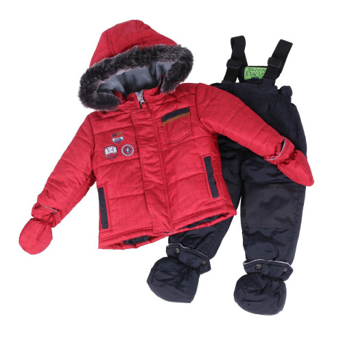Зимний комплект PELUCHE & TARTINE F18 M 09 BG Ferrari Red / Deep Grey