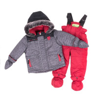 Зимний комплект PELUCHE & TARTINE F18M11BG Stone / Deep Red