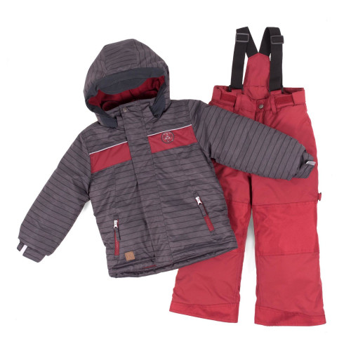 Зимний комплект PELUCHE & TARTINE F18 M 61 EG Deep Gray / Red Leaf